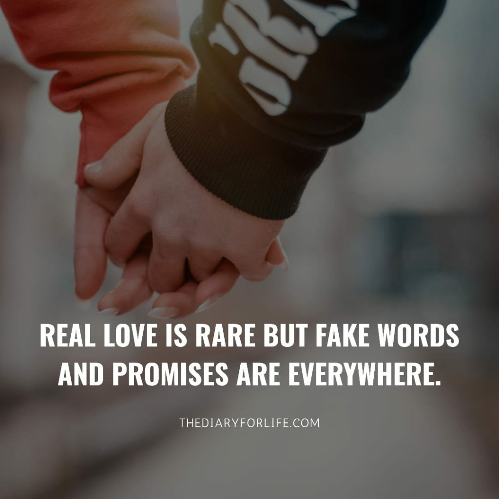 fake love quotes - Real love
