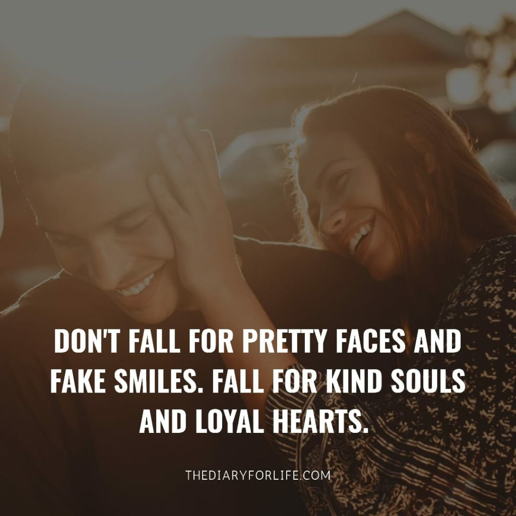 fake love quotes - Don't fall for pretty faces