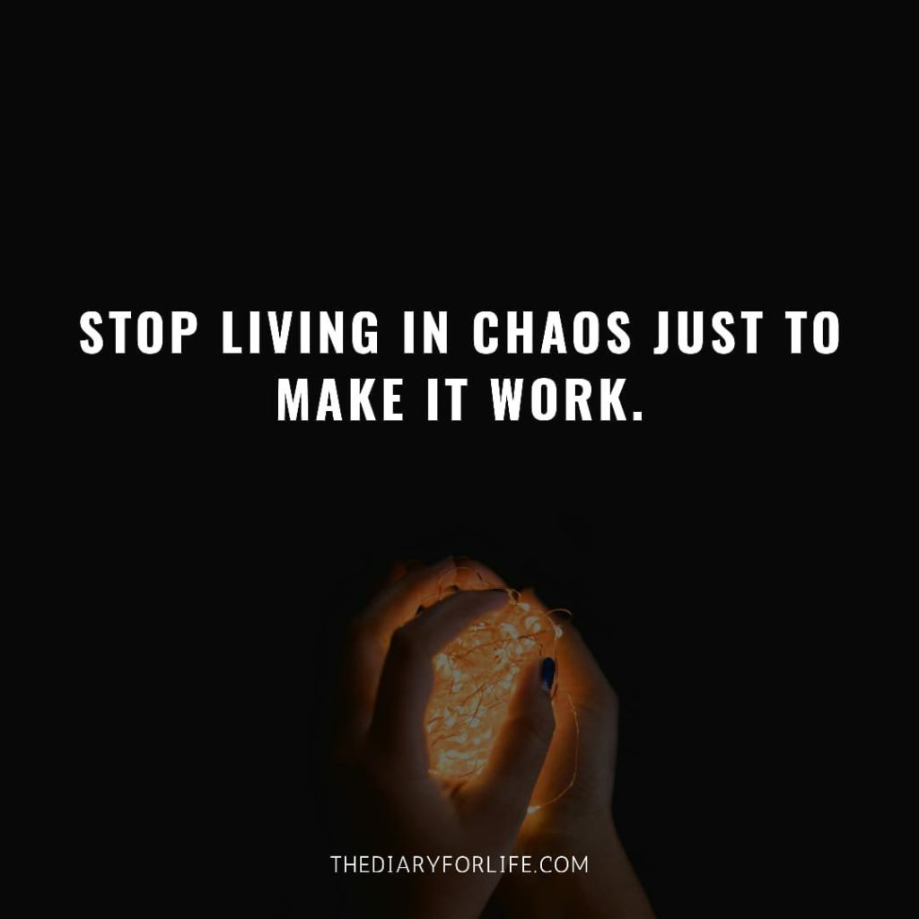fake love quotes - stop living in chaos