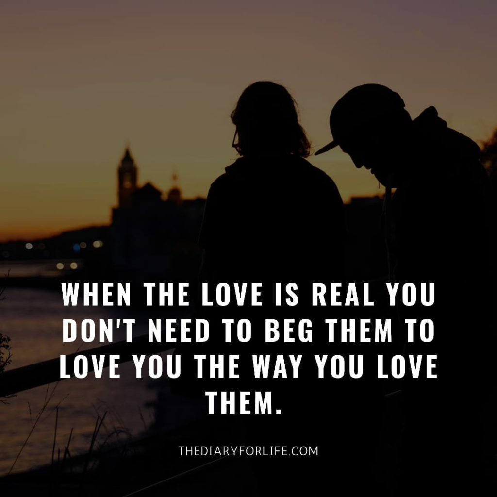 fake love quotes - When the love is real
