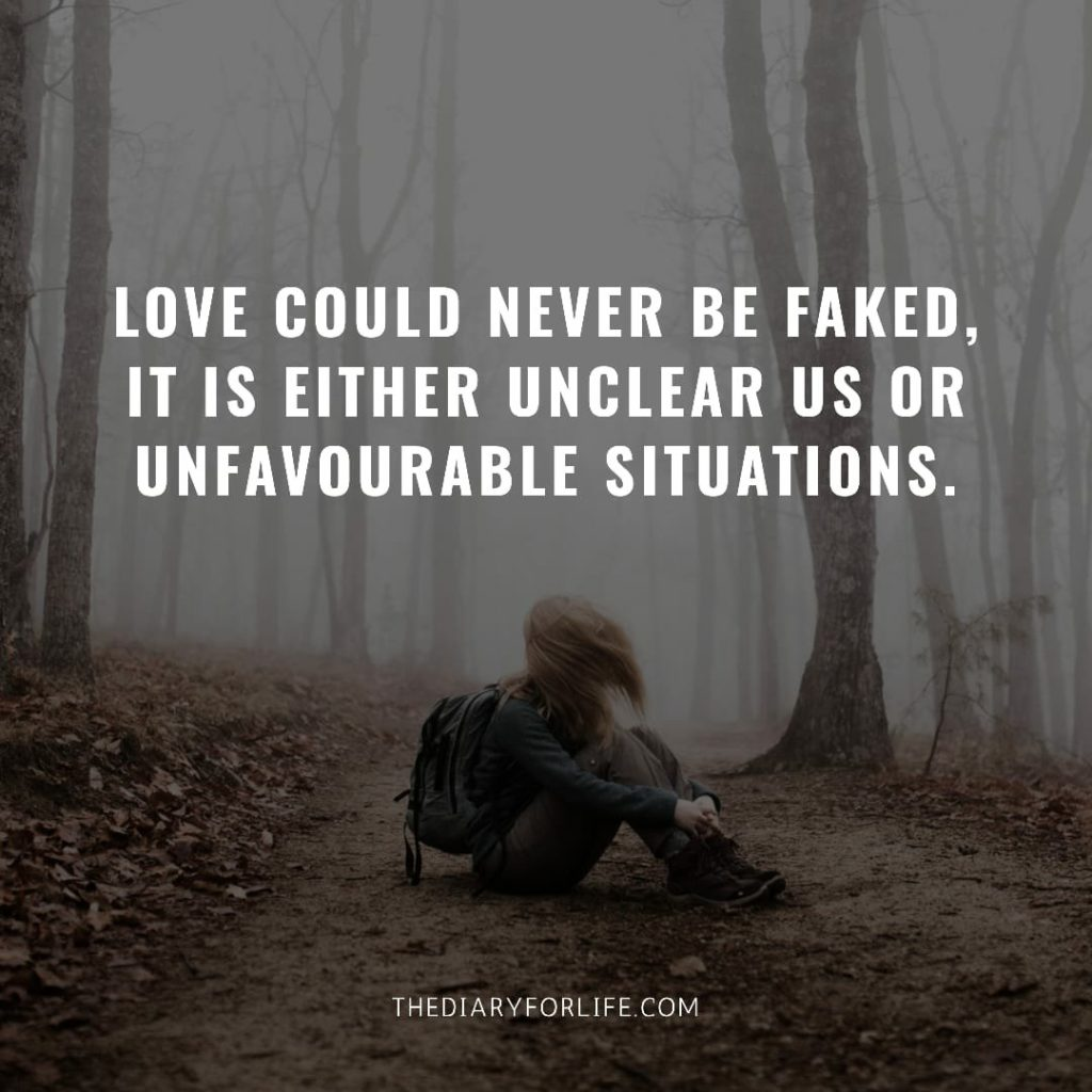 fake love quotes- love could