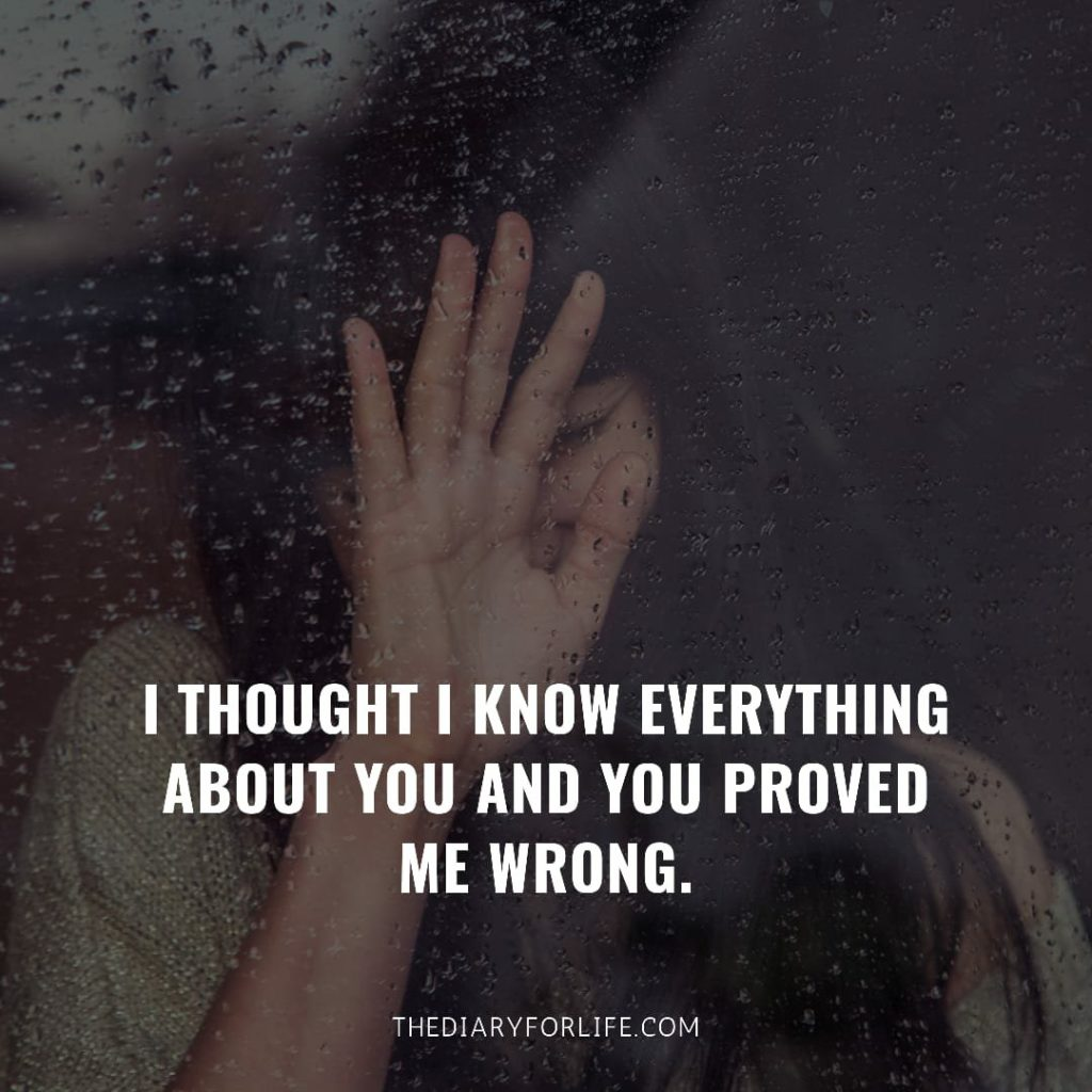 fake love quotes - I thought I knew