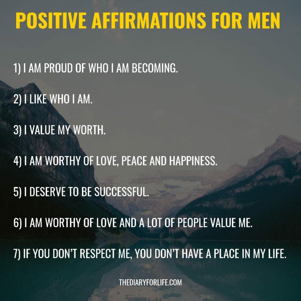 positive affirmations for men